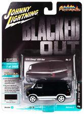 Johnny Lightning 1:64 Street Freaks Ver B 1976 Chevy G20 Van Midnight Black