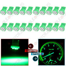 20Pcs Green LED Bulbs T10 W5W 194 Instrument Panel Clsuter Dash Light For Chevy