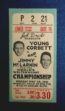 1933 Boxing Ticket Stub, Jimmy McLarnin / Young Corbett Championship, L.A. Cal.