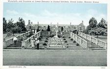 Formal Gardens Grand Lodge Masonic Homes Elizabethtown Pennsylvania Postcard