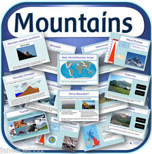 KS2 Geography topic MOUNTAINS / THE MOUNTAIN ENVIRONMENT IWB Teaching Resources