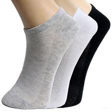 10 Pairs Women Men's Ankle Socks Low Cut Crew Casual Sport Color Cotton Socks