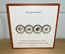 Williams Sonoma PLYMOUTH GATE Salad Plates Set of 4 NEW IN BOX