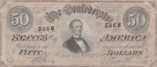 50 DOLLARS VERY FINE BANKNOTE FROM CONFEDERATE STATES/RICHMOND   1864
