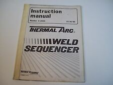 Thermal Dynamics 0-2023 Thermal Arc Instruction Manual - Used - Free Shipping