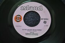 "Traffic,""No Face,No Name And No Number"",1968 UK Single."