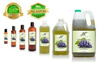Grapeseed Oil 2oz-7lb ORGANIC FOOD NATURAL CARRIER Cold Pressed 100% PURE VELONA