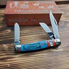 Rough Rider Dreamcatcher Stockman Folding Pocket Knife RR1524