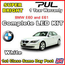 BMW 5 SERIES E60 E61 21/pc WHITE CANBUS LED INTERIOR UPGRADE LIGHT KIT SET