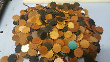 Leather Rosettes/concho's/ 4 oz or 1/16 -1/8./ Natural Color / 50 pcs oil tanned