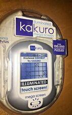 Kakuro Sudoku Illuminated Mega Screen Hand Held Game Puzzles Travel New Sealed