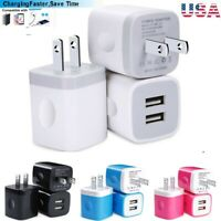 2/3x Dual Port USB Wall Charger Phone Fast Charging Base Cube Charger Universal