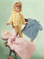 KNITTING PATTERN TINY TEARS BABY ALIVE SIZE DOLL  (12/16 INCH)   (870)