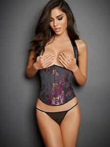 Frederick's of Hollywood Jacquard Underbust Corset Size S New