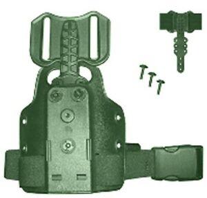 Safariland 6004-25-54 Green Polymer Single Strap Leg Shroud w/Drop Flex Adapter