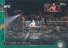 #125 GEORGES ST-PIERRE/JAKE SHIELDS 2015 Topps UFC Chronicles GREEN PARALLEL/288
