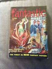 Science Fiction Novel Fantastic Oct 1954 The Yellow Needle By Gerald Vance