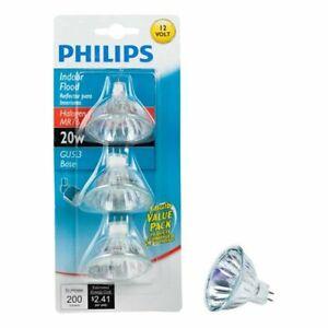 NEW - Philips 415687 Indoor Flood 20-Watt MR16 12-Volt Light Bulb, 3-Pack