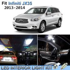 12pcs Bright White Interior LED Lights Package Kit For 2013-2014 Infiniti JX35
