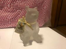 Disney Classic WINNIE the POOH Frost Crystal Glass Figurine by CHARPENTE w/ Tag