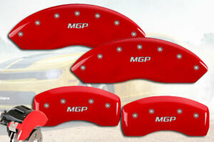 """2011-2013 M37 Front + Rear Red Engraved """"MGP"""" Brake Disc Caliper Covers 4pc Set"""