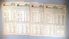 Music Popularity Chart - Billboard  Magazine - LOT of 4 diff. from 1941-1942