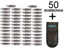 Lote de bombonas CO2 para airsoft (12 g, 50 unds) Gamo/Umarex/ASG +funda