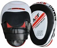 AQF Rex Leather Focus Pads,Hook and Jab Mitts,MMA Kick Boxing Muay Thai Sparring