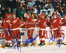 DETROIT RED WINGS RUSSIAN FIVE FEDOROV KONSTANTINOV SIGNED 8x10 REPRINT PHOTO RP