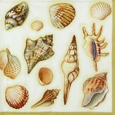 4x Tovaglioli di carta per Decoupage Decopatch Craft SEA SHELLS