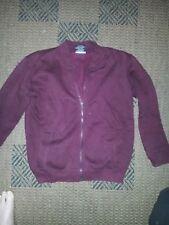 Unisex maroon school casual zippered jumper jacket size 10