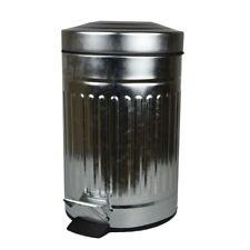 POUBELLE À PÉDALE 3 litres avec l'utilisation zinc rond de salle bain couvercle