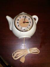 Seasions Teapot Clock White Model 1w