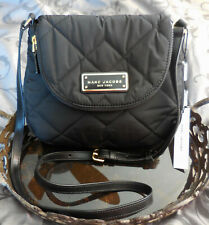 Marc Jacobs ~QUILTED NYLON Messenger Crossbody Purse Bag ~BLACK~ NWT $180