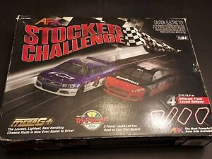AFX STOCKER CHALLENGE 21FT RACE TRACK. 4 DIFFERENT TRACK LAYOUT OPTIONS.NICE SET