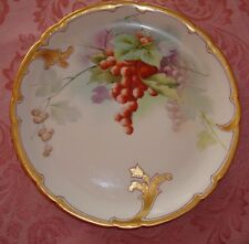 "LIMOGES  STOUFFER STUDIO HAND PAINTED SIGNED ""BLAHA"" PLATE, GRAPES, 8 3/4"""