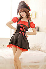 Cosplay Pirate Halloween Uniform Lingerie Red TSH016