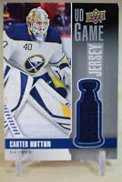 Carter Hutton UD Game Jersey 2019-20 Upper Deck #GJ-CA Buffalo Sabres