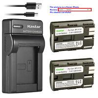 Kastar Battery Slim Charger for Canon BP-511 CG-580 & Canon Optura 10 Optura 20