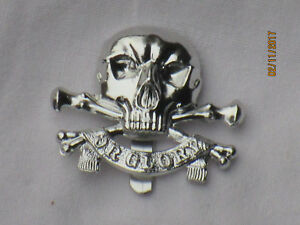 Queens Royal Lancers,QRL, Anodised Aluminium Staybright,Maker:Firmin