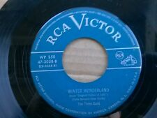 "THE THREE SONS 45 RPM ""Winter Wonderland"" & ""White Christmas"" VG condition"