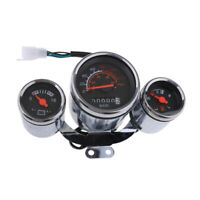 Retro Style Scooter Moped Speedometer Gas Gauge 12V 0-80 mph, 0-120 km / h