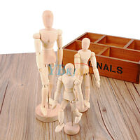 Neu Zeichenpuppe Gliederpuppe Modellpuppe Holz Zeichenfigur Puppe Figur Modell