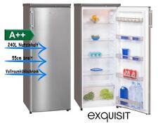 Vollraum Kühlschrank EEK A++ 240l 42dB Exquisit KS 325-4A++ Inox