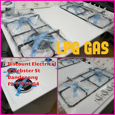 TECHNIKA WHITE 4 BURNER LPG GAS COOK TOP WITH WARRANTY WE OPEN 7 DAYS