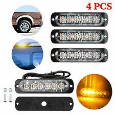 4X Side strobe marker light Car Truck LED Amber Flash Emergency Warning Lamp UK