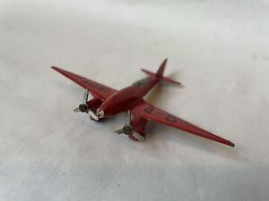 VINTAGE DIECAST MECCANO DINKY TOYS DE HAVILLAND DH88 COMET LIGHT RACER AIRCRAFT