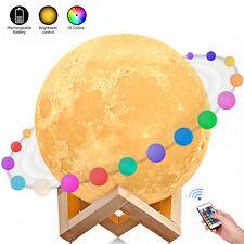 15/18cm 3D Nachtlicht LED Mondlampe Night Desk Lampe Moon Lamp Light Durchmesser