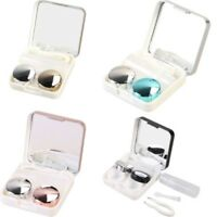 Portable Travel Holder Storage Soaking Contact Lens Box With Mirror