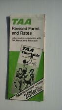TAA Revised Fares and Rates Timetable 7 March 1976.